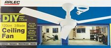 Arlec DIY Ceiling Fan 3 Blade 120cm with 4 Metre Power Cord