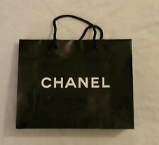 Chanel Black Paper Shopping Gift Bags Brand New