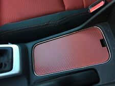 2013 - 15 Honda Civic SI RED Cup Holder Cover Carbon Fiber Pattern Cupholder R18