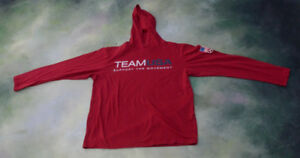 Team USA Support The Movement Hoodie Size Youth XL.