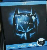 BOX 3 BLU RAY MOVIE BATMAN DARK KNIGHT TRILOGIA CAVALIERE OSCURO + CUFFIE STEREO
