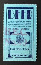 Maine State Revenue - Beer Tax Stamp, used, good condition - ME