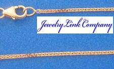 "14K Rose Gold Diamond Cut Foxtail Chain 0.9mm 1.7grams Italian 16"" (022)"