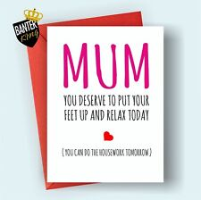 M7 HAPPY BIRTHDAY GREETINGS CARD MUM RUDE FUNNY CHEEKY LOVE MOTHER'S MOTHERS DAY