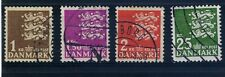 DENMARK 4 Coat of Arms stamps Used