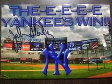JOHN STERLING Authentic Hand Signed 4X6 PHOTO  NY YANKEES PLAY-BY-PLAY ANNOUNCER