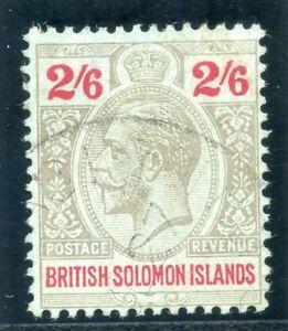 Solomon Islands 1914 KGV 2s 6d grey & red/blue VFU. SG 35 var. B&K G15a.