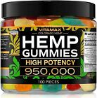 Natural Gummies for Stress Relief - Great for Pain, Insomnia & Anxiety - 100ct