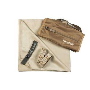 Gear Aid McNett Tactical Ultra Compact Microfiber Towel & Bag Sand Brown Medium
