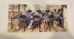 Freiman Stoltzfus   Amish Women Quilting     1996
