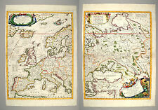 Coronelli 1692 Parte Occidentale Dell' Europa Original 2 sheet map of Europe