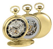 Woodford Hunter 17 Joya Reloj Bolsillo Trasero Esqueleto caso chapado en oro pulido