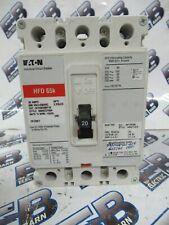 Cutler Hammer Hfd3020, 20 Amp, 600V, 3P, 65K, Red, +Shunt, Breaker- New-S
