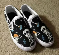 Skeleton  slip Ons size 6 Canves Comfortable Shoes