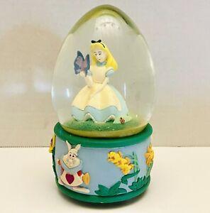 Vintage Disney Store Alice In Wonderland Egg Snow Globe - Read