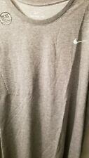 Nike Mens Gray Dri Fit Mens Big Tall Logo Short Sleeve Shirt 4X 4XL