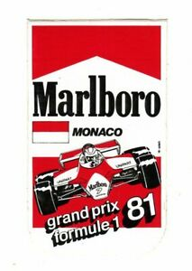 Monaco GP 1981 Marlboro original sticker autocollant adhesivo Aufkleber