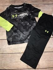 Under Armour 12 18 24 Months Long Sleeve Outfit Black New Set Fall Winter