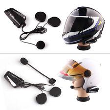 2x 1000M T9S Motorcycle Helmet Bluetooth Intercom Motorcycle Wireless BT Headset
