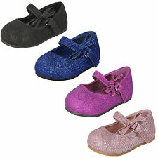 GIRLS SPOT ON PARTY SHOES AVAILABLE IN PINK, PURPLE, BLACK & NAVY STYLE - H2304