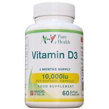 A to Z Pure Health - vitamina D3 10 000iu X 60 Cápsulas blandas