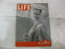Life Magazine April 7th 1941 Spring Showers Published By Time         mg121