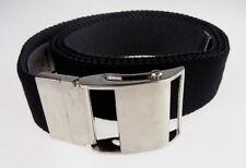 New mens unisex reversible black grey quality web belt Size L/XL  52 inches long
