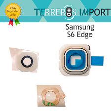 Lente embellecedor Camara trasera repuesto Samsung Galaxy S6 Edge G925f blanco