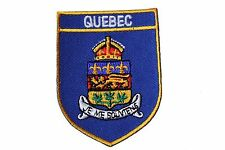 QUEBEC Blue Shield CANADA Provincial Flag IRON-ON PATCH CREST BADGE