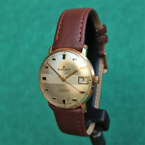 RADIANT Gold Plated Vintage Watch AS ST 1951 Reloj Montre Orologio Uhr Swiss