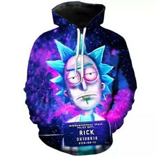 2019 Bule Rick Morty Printed 3D Hoodie Sweatshirts Men Harajuku Autumn Winter...