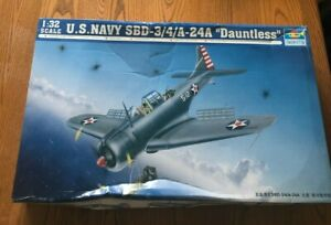 "Trumpeter 1/32 US Navy SBD-3/4/A-24A ""Dauntless"" with Eduard Seatbelts"