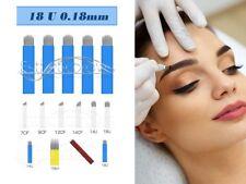 Microblading Permanent make up  Blades/Nadeln/Needles Blau 18 U 0,18mm 10 Stück