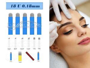 Microblading Permanent make up pmu  Blades/Nadeln/Needles 18 U 0,18mm 10 Stück