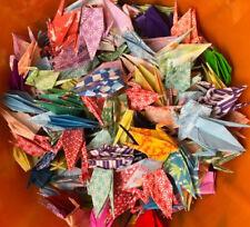 100 Handmade Folded Lucky Origami Cranes 3� x 3�