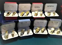 New Geneva His & Hers Watch Set's In Box, 8 Set's Total of 16   FREE SHIPPING #2
