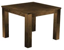 Esstisch Holz Pinie massiv 100x100 Farbton Eiche antik Küche kolonial rustikal