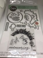 New & Sealed Sizzix Framelits - Detailed Tropics Die & Stamps Set 663861