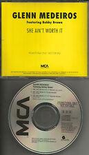 GLENN MEDEIROS & BOBBY BROWN She Ain't Worth it LONG & 12 INCH EXTENDED PROMO CD