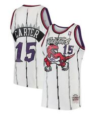 1997-98 White Toronto Raptors Carter Mitchell & Ness Mesh NBA Swingman Jersey