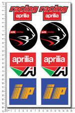 aprilia racing ip motorcycle decals set 16x26cm sheet 8 stickers RSV4 RS Tuono