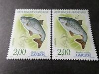 FRANCE 1990, VARIETE' DECALAGE COULEUR, timbre 2663 POISSON GARDON, neuf**, MNH