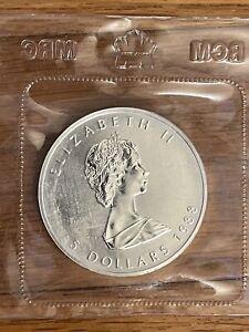 1988 1oz silver Canada Maple Leaf - Sealed (Ist year of issue)