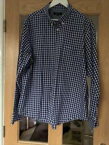 Jaeger Mens Blue Check Long Sleeved XXL Shirt