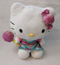 Hello Kitty Sanrio Blip Toys Plush 2013 Pink & Aqua Dress, Lollipop/Candy