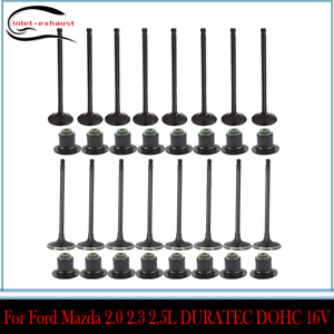 Intake Exhaust Engine Valves  For Ford Mazda 2.0 2.3 2.5L DURATEC DOHC 16V
