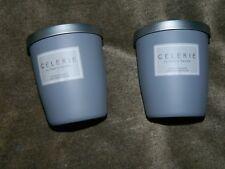 CELERIE KEMBLE Black Orchid  8.5 OZ NATURAL SOY WAX CANDLE GLASS TUMBLER x 2