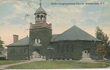 POSTCARD / ETATS UNIS / GLOBE CONGREGATIONAL CHURCH WOONSOCKET + CACHET