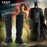 HZYM Justice League Superman Clark Kent Cosplay Leather Boots Shoes Custom Made