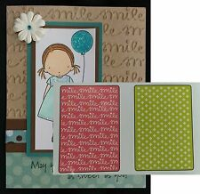 Sizzix Embossing Folders SMILE & PLUS Set Folder 659785 Words All Occasion